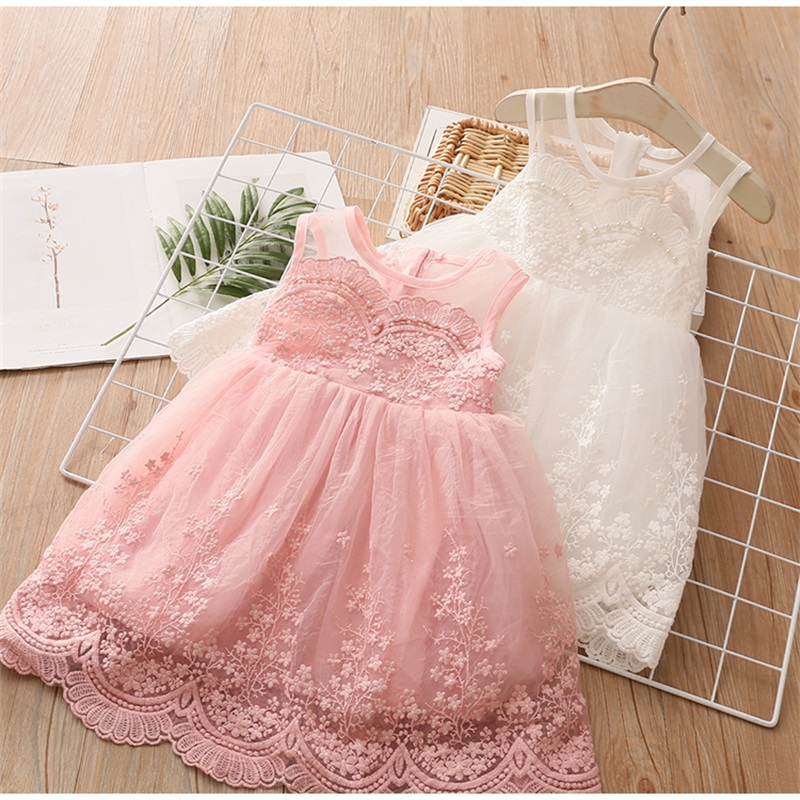 3-8Years Toddler Kid Girl Princess Dress Lace Tulle Wedding Birthday Party Tutu Dress Pageant Children Clothing Kid Costumes