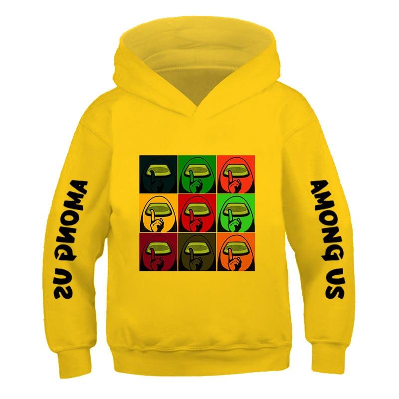 New Casual Streetwear Cotton printed long sleeve top Among Us Impostor Game Printed Sweatshirts boy Hip Hop Loose Hoodies Autumn 5