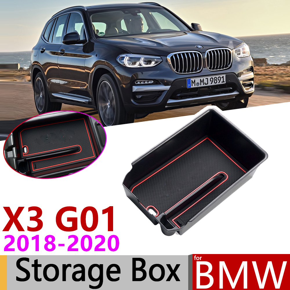 for <font><b>BMW</b></font> <font><b>X3</b></font> <font><b>G01</b></font> X3M xDrive 20i 20d 2018 2019 2020 of Central Armrest Box Storage Stowing Tidying Car Organizer Accessories image