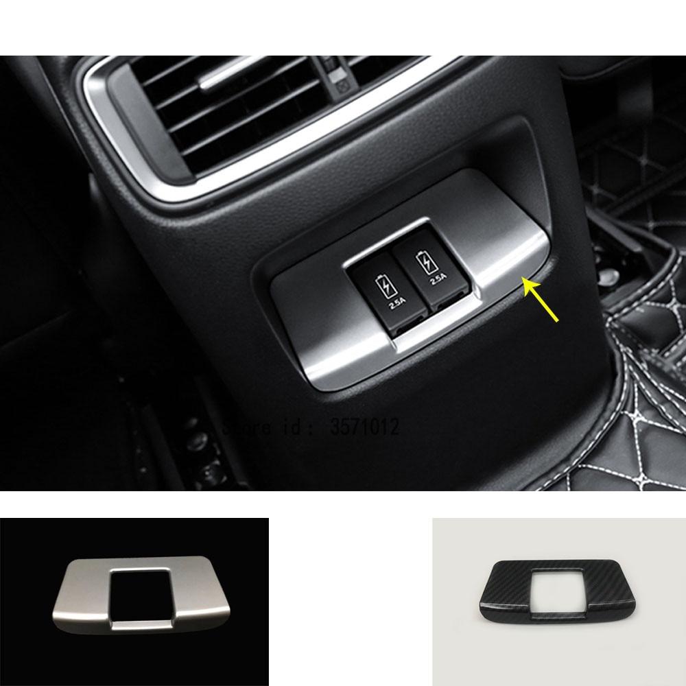 Car Garnish Cover Trim Battery Charger Jack Rear Air Conditioning Outlet Vent 1pcs For Honda CRV CR-V 2017 2018 2019