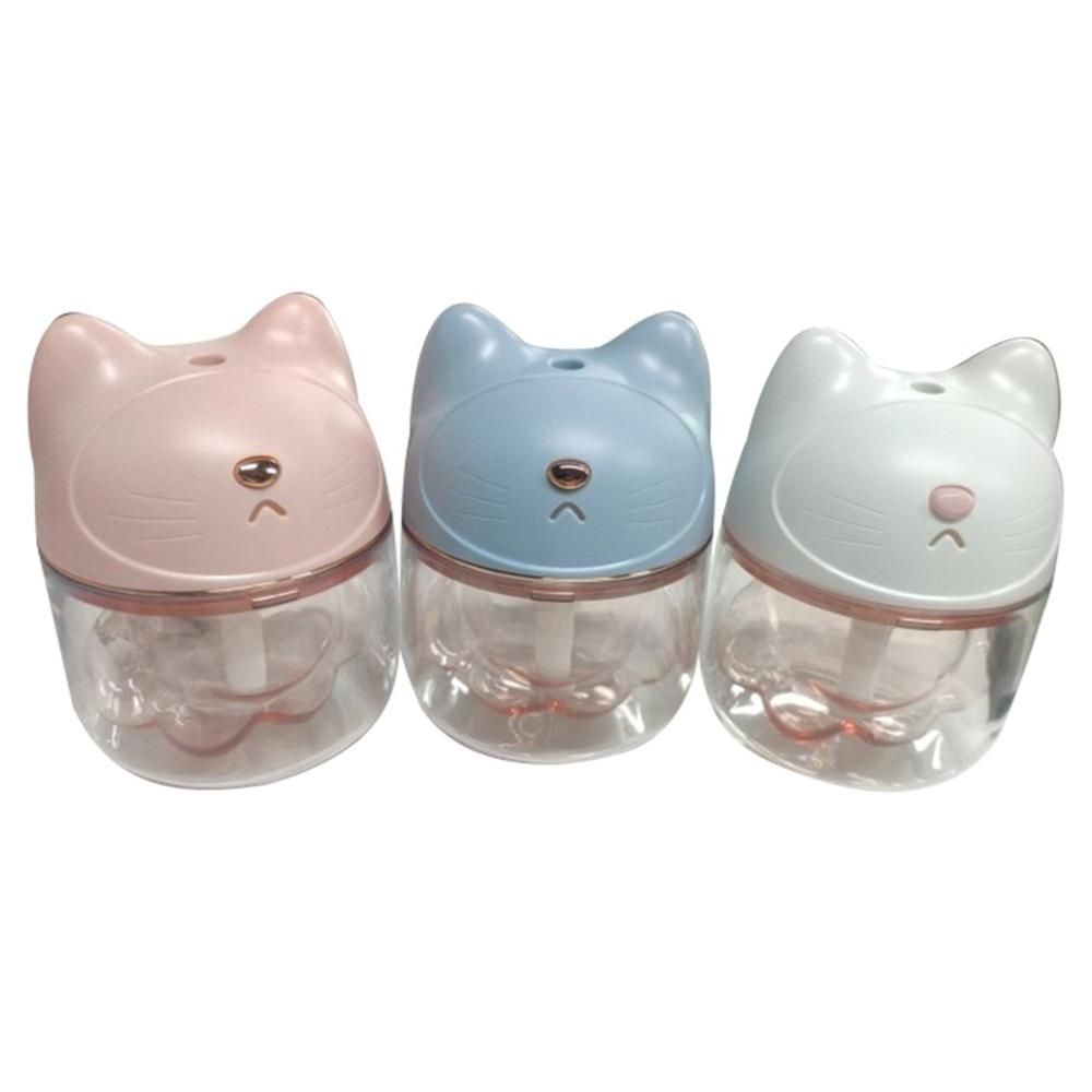 Diffuser-Mist-Maker Air-Humidifier Night-Light USB Claw-Cup Ultrasonic Desktop Cat Colorful