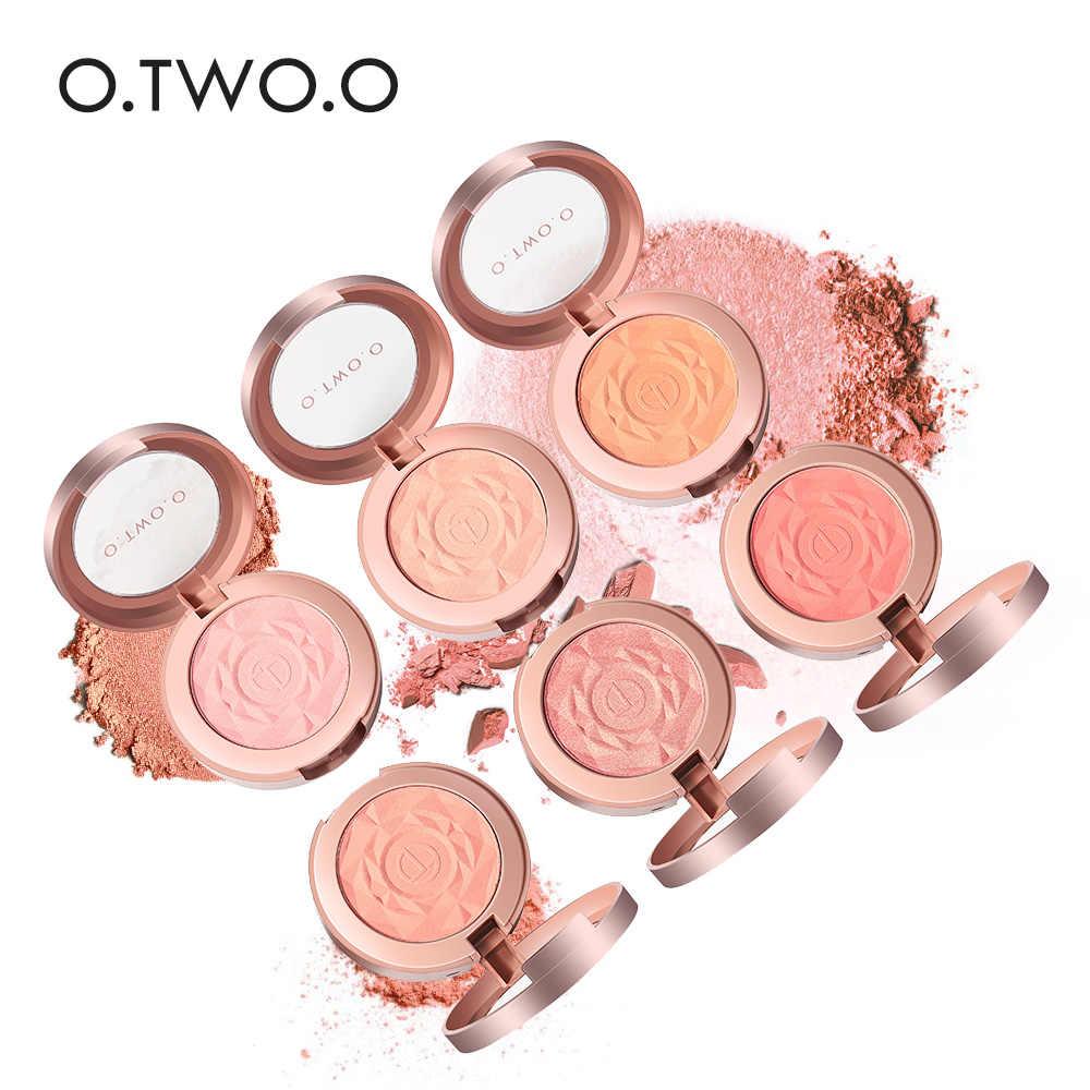 O.TW O.O Face Blusher Rouge แต่งหน้า Cheek Blusher ผงแร่ธาตุจานสี Blusher แปรง Palette Cream NATURAL Blush