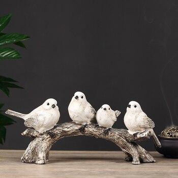 Figuritas de animales de resina estilo retro