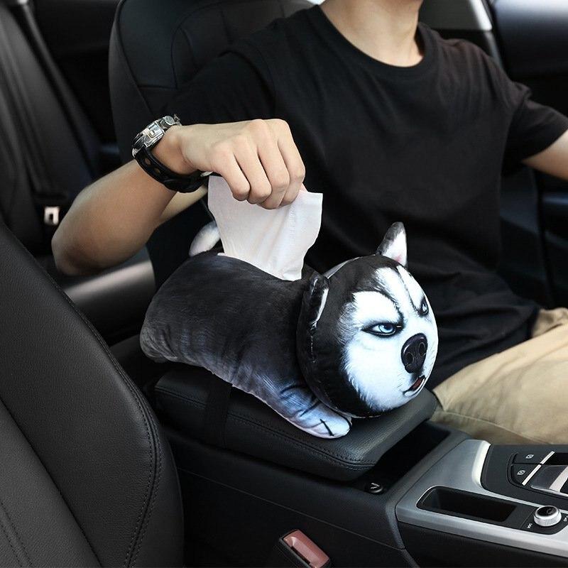 Car Cartoon Plush Tissue Box Lid Home Decoration Tissue Holder Car Shape Tissue Box Car Accessories Cute
