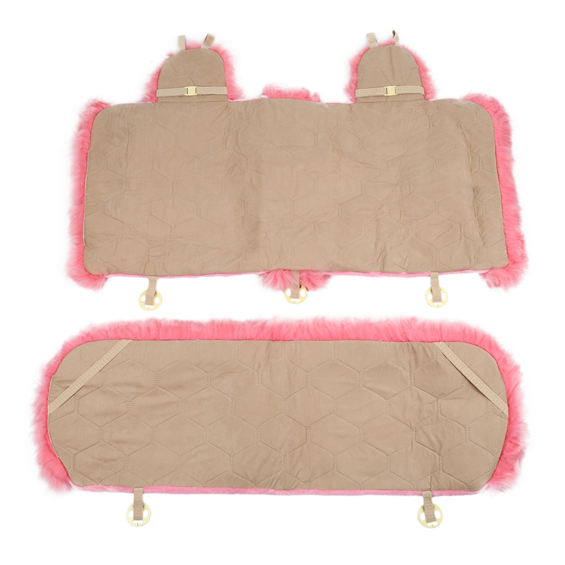 Housse de siège de voiture en laine hiver chaud Automobiles coussin de siège fourrure naturelle australien en peau de mouton Auto sièges couverture voitures accessoires de fourrure - 2