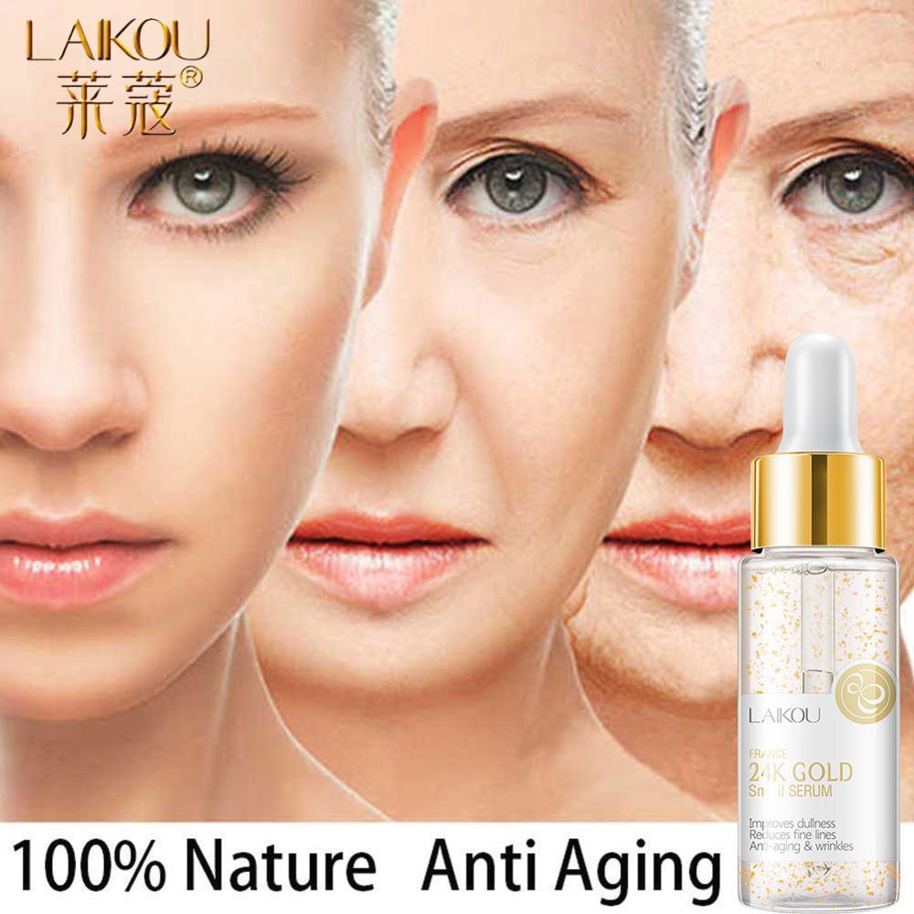 LAIKOU 30ML 24k Gold Serum Vitamin c Facial Serum Essence Hyaluronic Acid Cream Anti Wrinkle Whitening Face Care Essence Skin