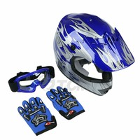 DOT Dirt Bike ATV Motocross Helmet w/ Gloves + Goggles Adult / Youth cascos para moto kask motocyklowy full face Off-Road Helmet 4