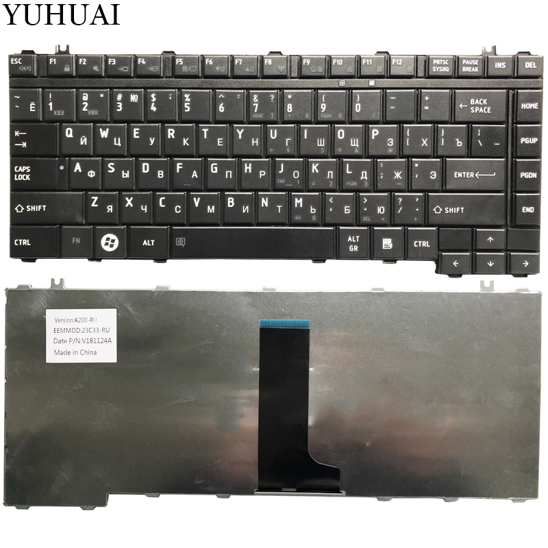 NEW Russian Keyboard For Toshiba Satellite A200 A205 A210 A215 A300 A305 A305D A350 A350D A355 M300 M200 M305 RU Black Keyboard