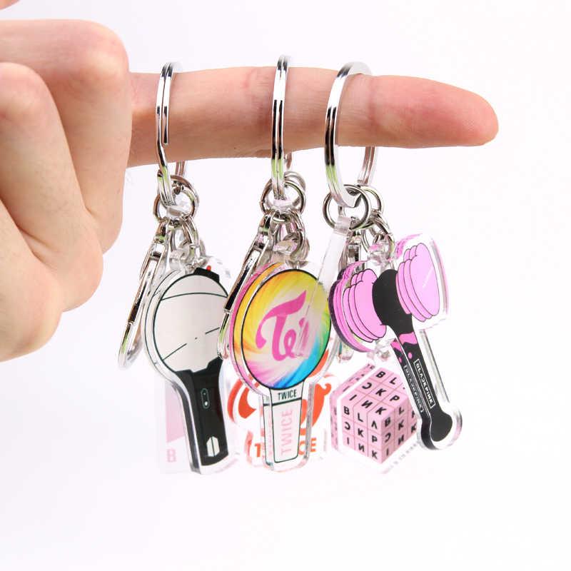 KPOP BLACKPINK EXO GOT7 مرتين سبعة عشر المفاتيح Bangtan الأولاد ملحقات السلسلة الرئيسية حلقة رئيسية لطيف قلادة كيرينغ الهدايا