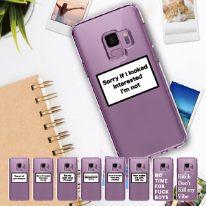 Positive Good Vibe Happy Funny Quote For Samsung Galaxy Note 8 9 10 A7 A8 S8 S9 S10 S20 Plus Soft Slim Protective Clear Case