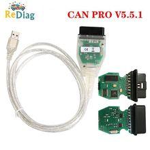 Puede PRO V5.5.1 con FTDI FT245RL Chip VCP OBD2 interfaz de diagnóstico soporte de Cable USB Bus UDS K línea para AUDI/VW
