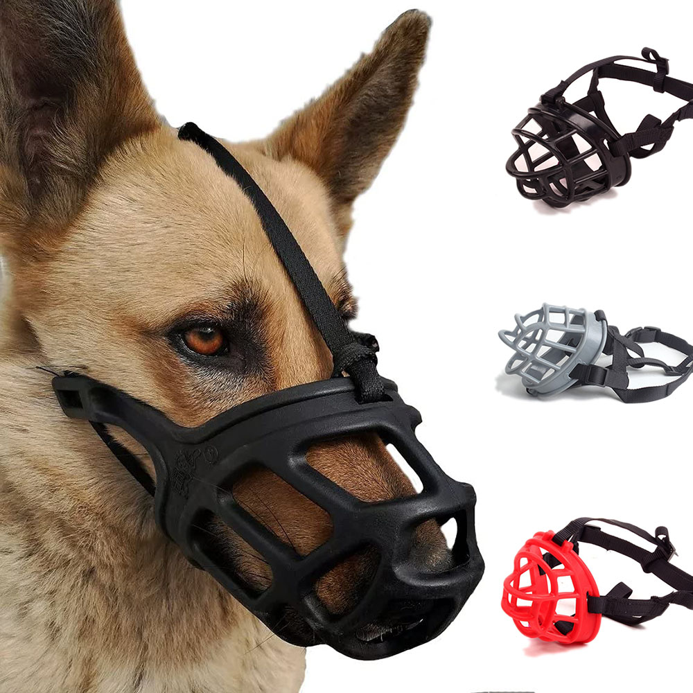 Dog Muzzle Soft Basket Silicone Muzzles for Small Medium Large Dogs Prevent Biting Chewing Barking Adjustable Pet Dog Muzzle|Muzzles| - AliExpress