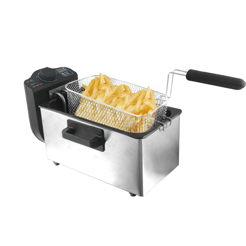 Ev Aletleri'ten Mutfak Robotları'de 2000W ticari fritöz 3L elektrikli fritöz patates kızartma makinesi hiçbir duman otomatik sabit sıcaklık fritöz title=