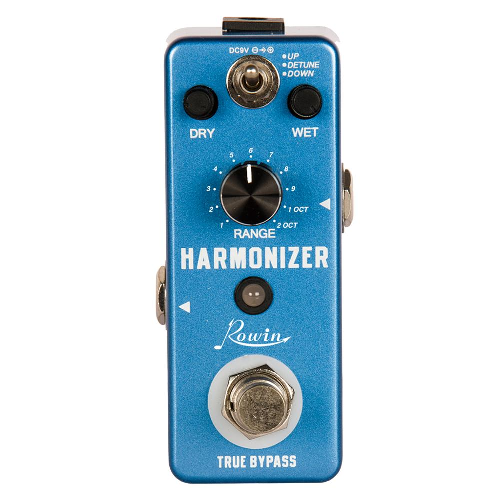 Rowin LEF-3807 Guitar Harmonizer Pedal Digital Pitch Effect Pedals Original Signal To Create Harmony/Pitch Shift/Detune