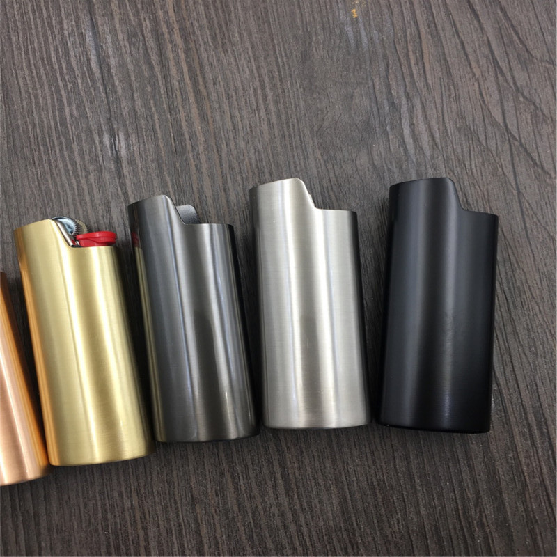 1PC Metal Armor Gas Lighter Shell Ice Mirror J6 Lighter Case General Plastic Body Protection Lighter Cover For Bic