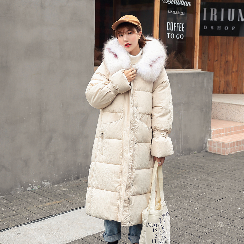 New 2020 Winter Down Cotton Jacket Women Long Coat Parkas Thickening Female Warm Clothes Rabbit Fur Collar Down Jacket T92
