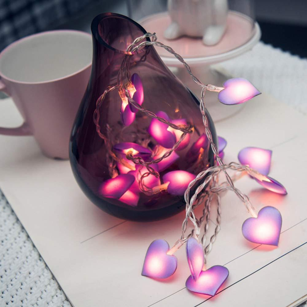 10/20/40 LED Love Heart Wedding String Fairy Light Holiday Lighting Christmas Party Bedroom Home Garland Lighting