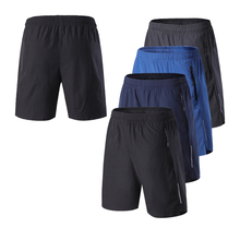 Fitness Shorts Running-Training Zipper-Pockets Workout Men Loose Breathable