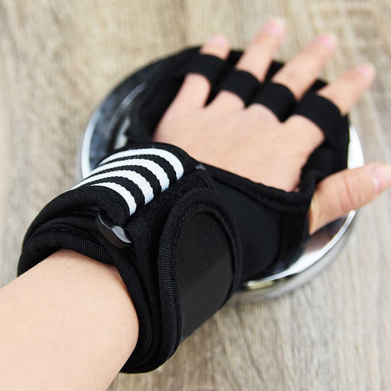 Guantes de entrenamiento ventilados con envolturas de muñeca integradas para levantamiento de pesas