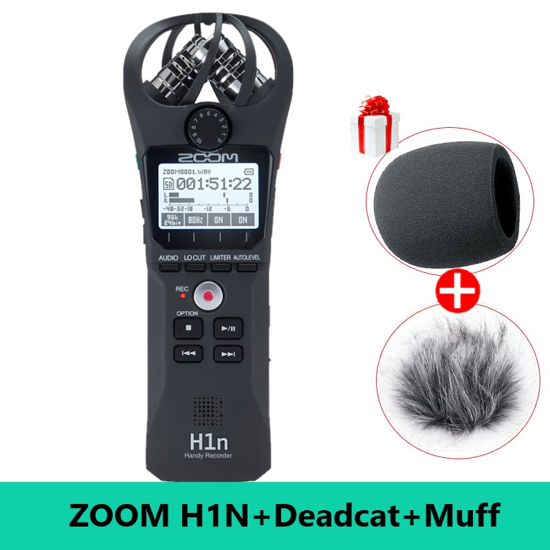Updated ZOOM H1N Pen Handy Recorder Digital Audio Recorder Stereo Microphone for Video Interview DSLR Camera