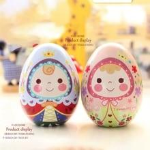 1PC Mini Cute Easter Egg Tin Metal Box Candy Box