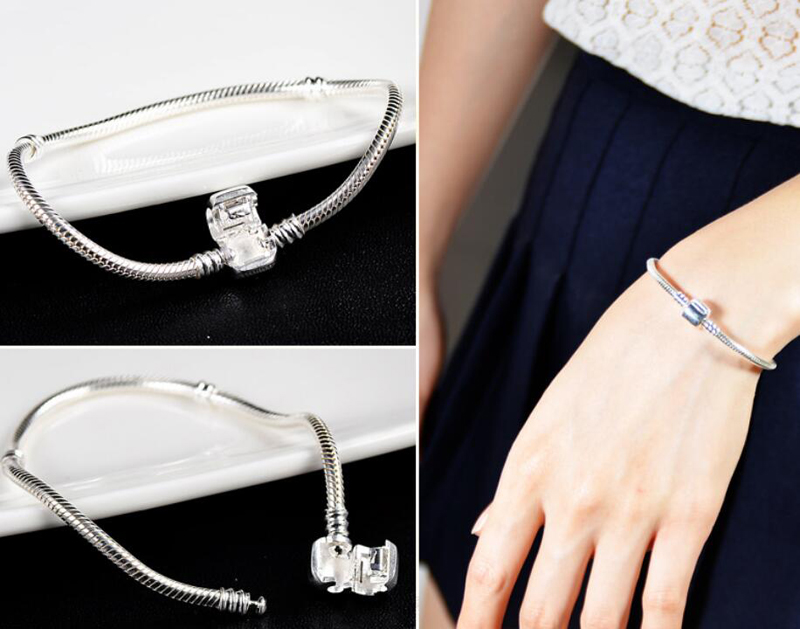 90-OFF-Original-Fine-Jewelry-925-Solid-Silver-Charm-Bracelet-With-Certificate-Soft-Smooth-Snake-Bone (4)