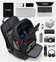 Splash proof Laptop Backpack for Men 17 17.3 Inch High Capacity Multi function Oxford Cloth Traveling School Backpack Usb