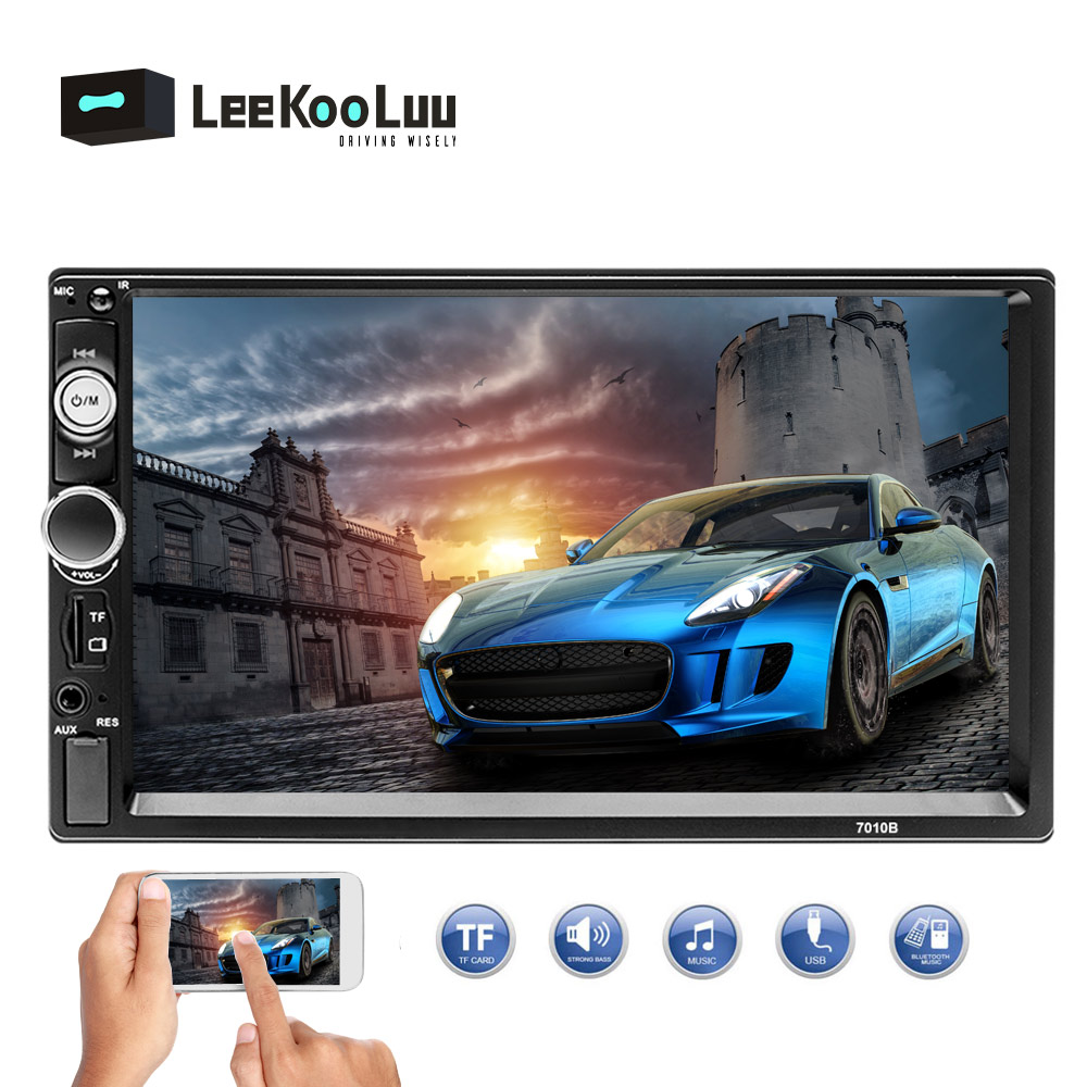 LeeKooLuu 2 din car radio 7 HD Player MP5 Touch Screen Digital Display Bluetooth Multimedia 2din Autoradio Support Mirror Link image
