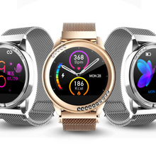 RGTOPONE Smart Watch Heart Rate Blood Pressure Monitor Decompression touch screen Waterproof Lady Smartwatch for Android IOS