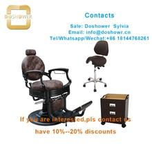 Silla de barbero Doshower DS-T265 vintage con sillas de barbero, muebles antiguos de peluquería para hidráulica + bomba + para + Barbero + silla