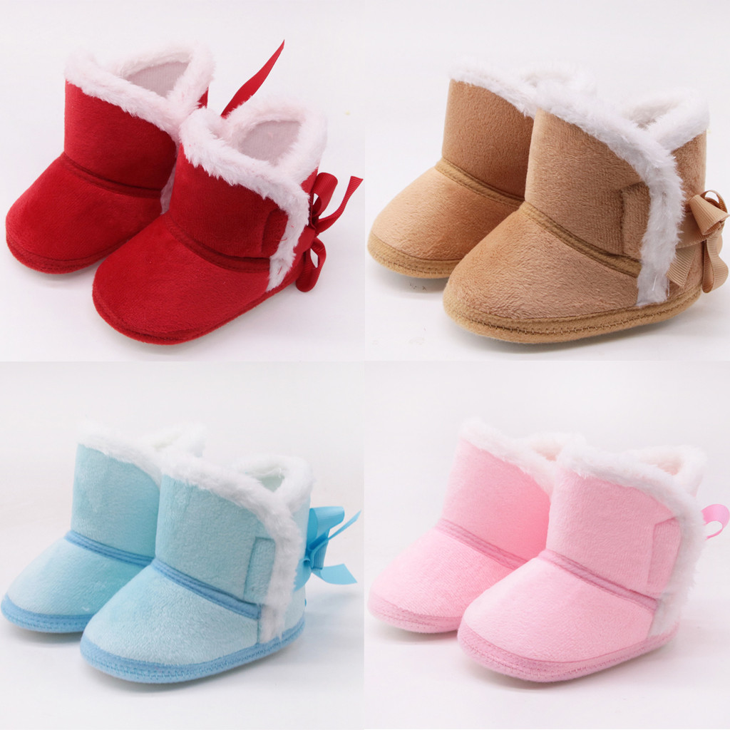 Infant Newborn Baby Boys Girls Cashmere Winter Boots Prewalker Warm Shoes