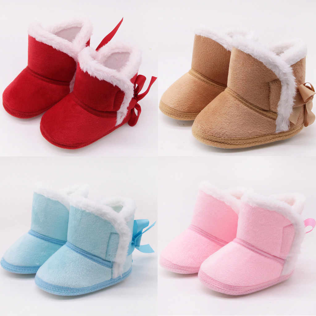 Infant Boots Winter Baby Boys Girls Shoes Soft Sole Anti-Slip Toddler Snow Warm Prewalker Booties Newborn Cute Crib Shoes