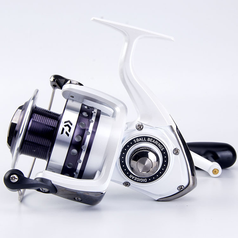 Original Spinning Fishing Reel Daiwa LAGUNA 5BB Speed Ratio 5.3:1 Metal Wire Cup Maximum Drag 8kg Sea Fishing Wheel Pesca Tackle