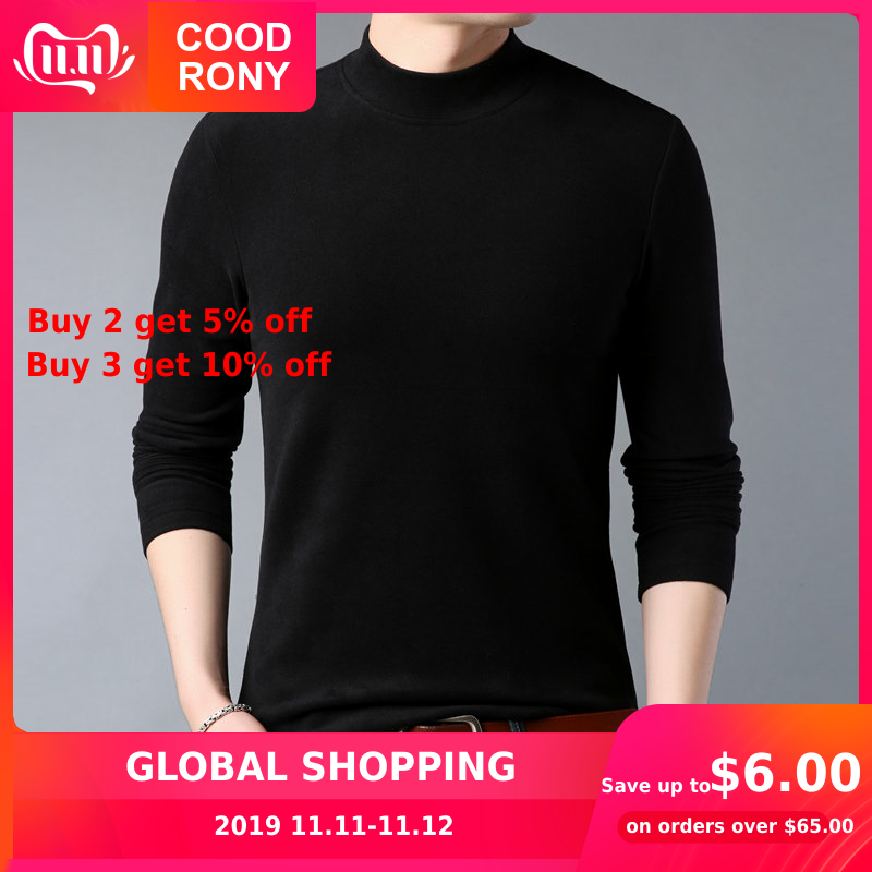 COODRONY Soft Warm Pullover Men Cotton Sweater Men Winter Turtleneck Knitwear Shirt Mens Cashmere Sweaters Slim Pull Homme 91015