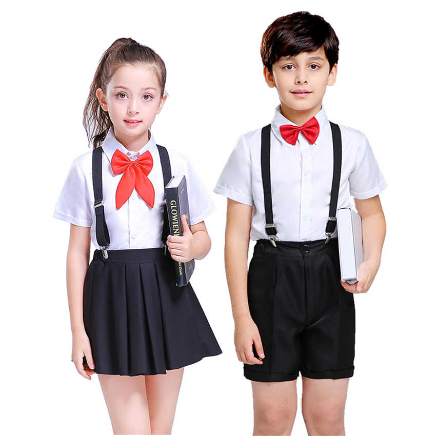 Kinderen Japanse School Uniform Rok voor Gilrs College Chorus Stage Performance Kleding Student Korea Mode Kostuums