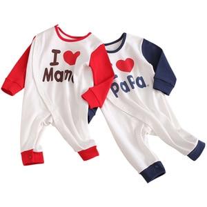 Image 2 - 2019 Spring New Infants Clothes Romper Cotton letter print  10.15
