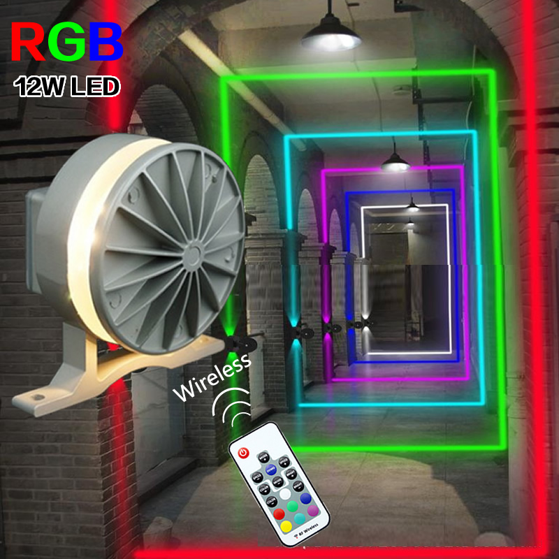 RGB LED Windows Sill Lighting Wall Light For Window Frame KTV Villa Door Hotel Bar Corridor Wireless Bluetooth 360 Degree