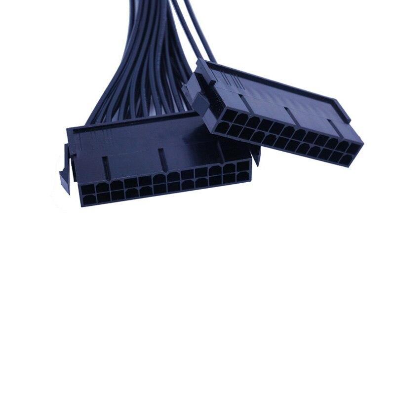 32 см 24 контактный синхронный шнур питания 18AWG двойной блок питания Удлинительный кабель для компьютерного пуска Удлинительный шнур