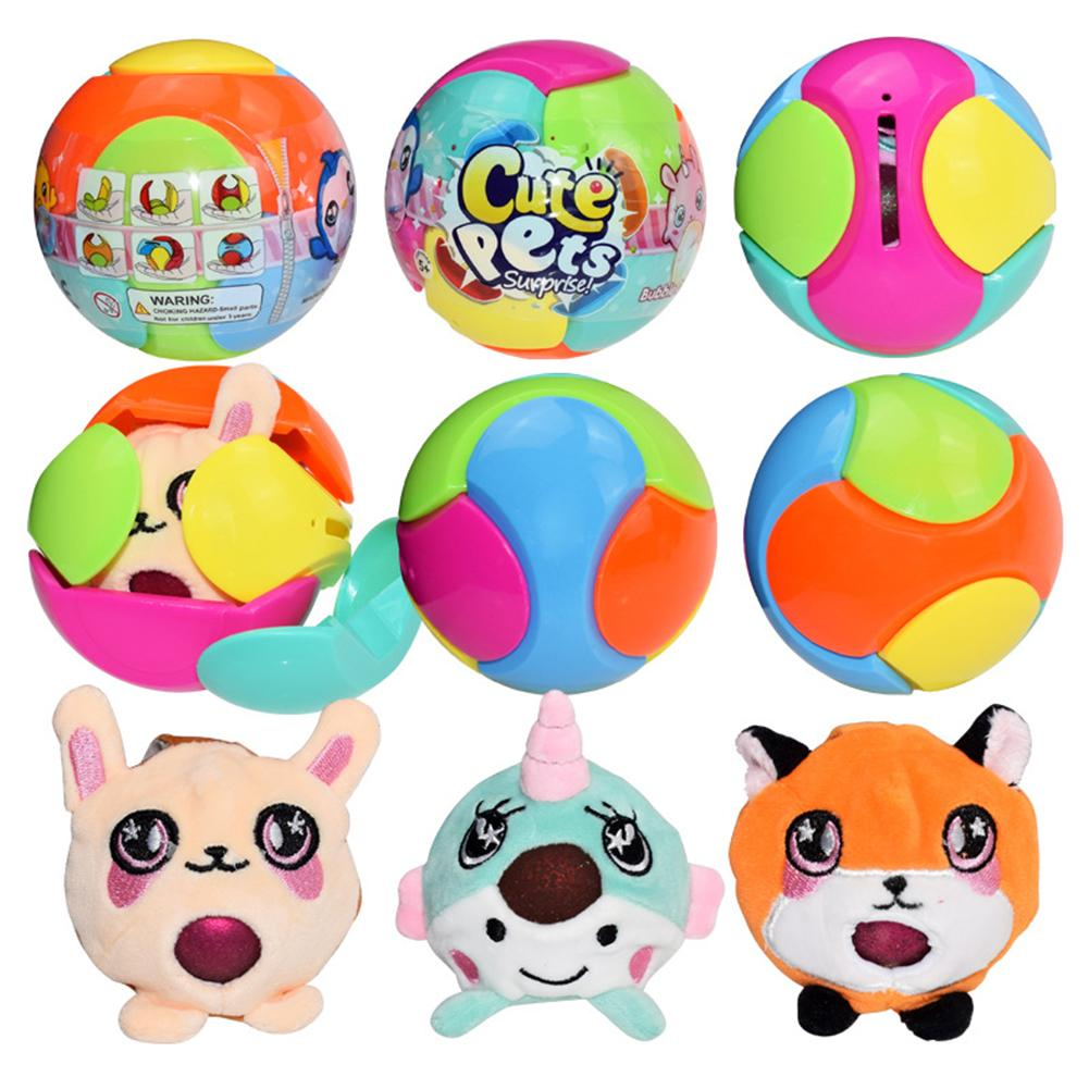 NEW Doll Toy Cute Pets Bubble Drops Plush Decompression Toys Surprise Ball For Kids Childres Christmas Birthday Gift