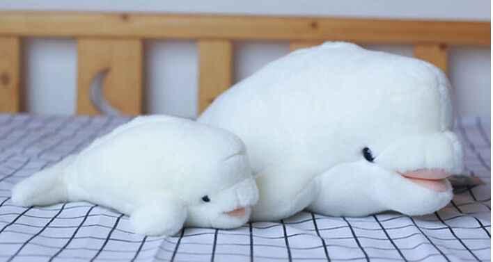 Nuovo giocattolo balena bianca peluche bambola giocattolo morbido regalo di compleanno s2188