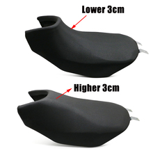Dla Benelli TRK502 TRK 502 Retro zmodyfikowany garb Seat niższy wyższy 30mm siodełko poduszka Vintage akcesoria motocyklowe czarny