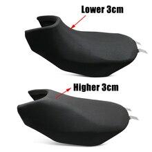 לbenelli TRK502 TRK 502 רטרו שונה דבשת מושב נמוך גבוה יותר 30mm מושב אוכף כרית כרית בציר אופנוע אבזר שחור