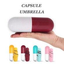 Capsule Umbrella Mini Light Small Pocket Umbrellas Anti-UV Folding Compact Cases Sunny Rainy