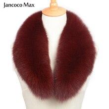 Women Real Fox Fur Collar Scarf Women & Men Spring Winter Warm Jacket Coat Shawls Lining 75cm S7102