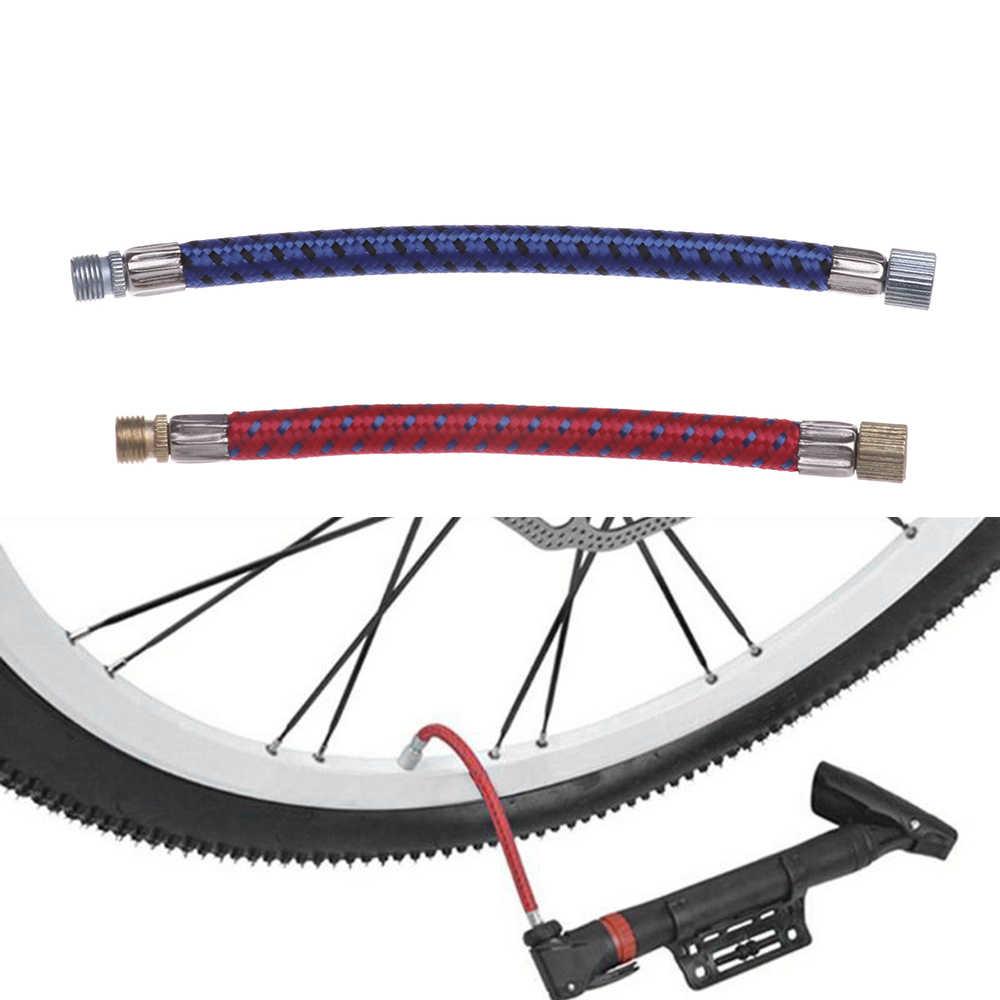 1/2 adet bisiklet pompası uzatma boru boru kablosu taşınabilir bisiklet hortumu pompalama adaptörü uzun Use150Psi Schrader A/ V vana servis bölümü