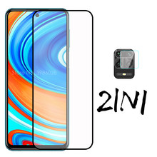 "2 in 1 tempered glass for xiaomi redmi note 9s 9pro max protective glass protector xiomi xaomi note 9s note9 s note9 pro 6.67""(China)"