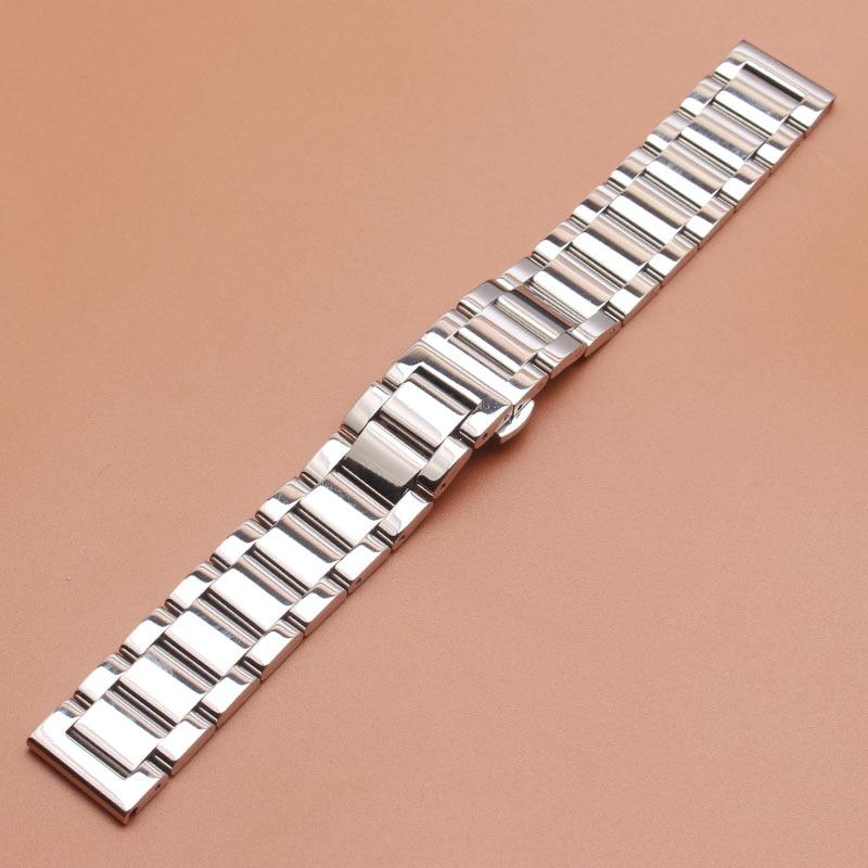 de relógio aço inoxidável prata polonês dos