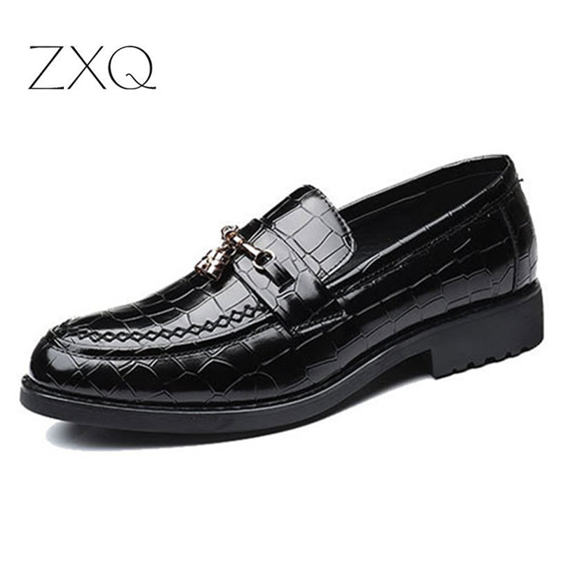 Black Real Leather Slip On Moccasin Formal Wedding Dress Loafers Casual Shoes