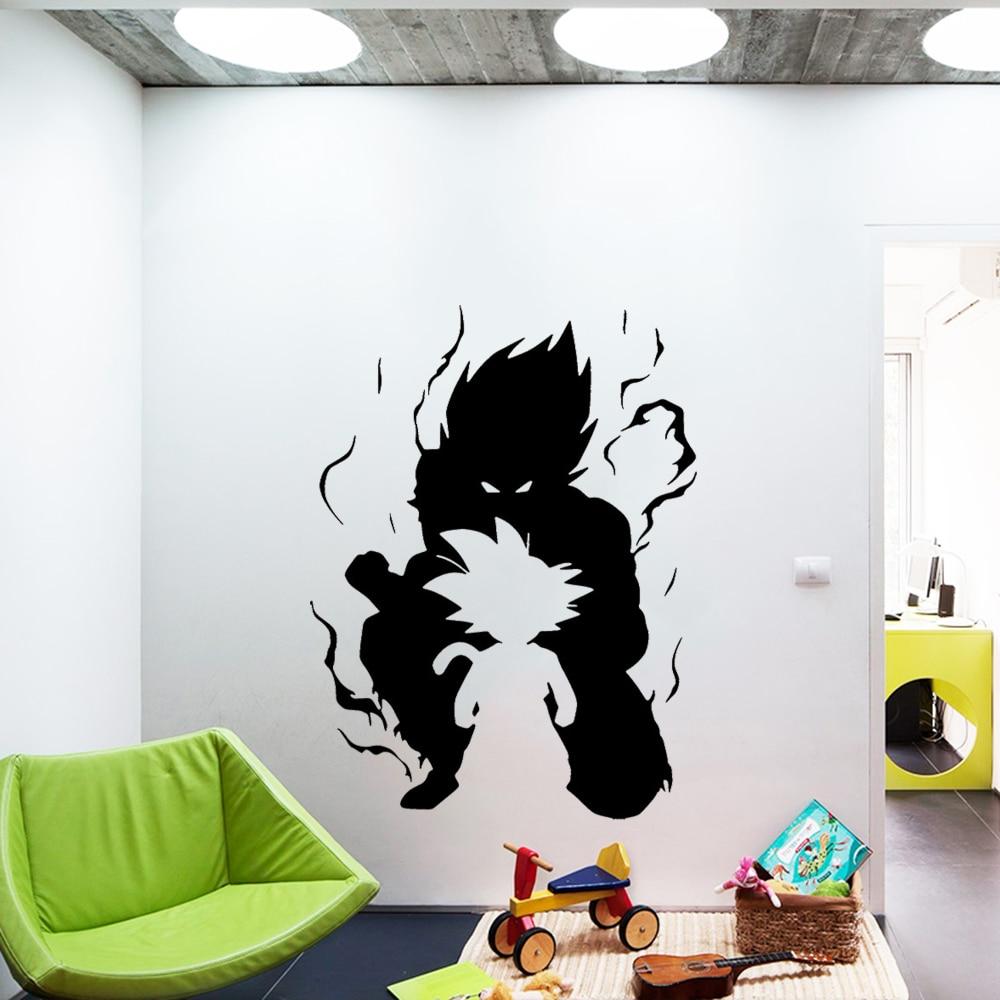 Dragonball Z R Vinyl Sticker Wall Art Window Anime Poster Bedroom Saiyan Decal
