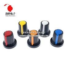 Potentiometer-Knob-Cap Blue Green Red Orange White Yellow WH148 15x17mm AG2 30pcs